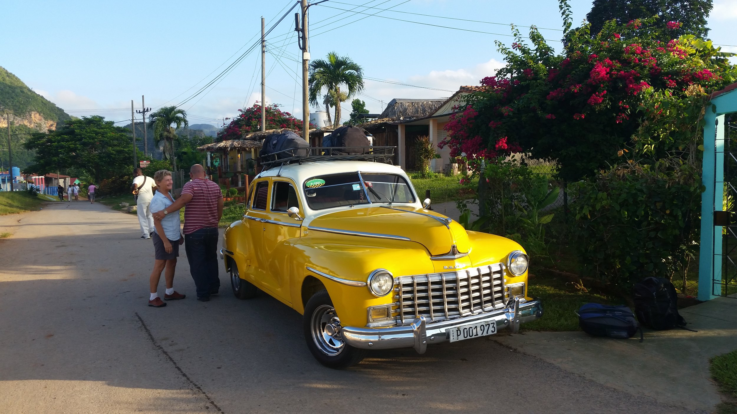 this was the collective taxi that our casa organised from Viñales to Havana - a 1948 dodge.