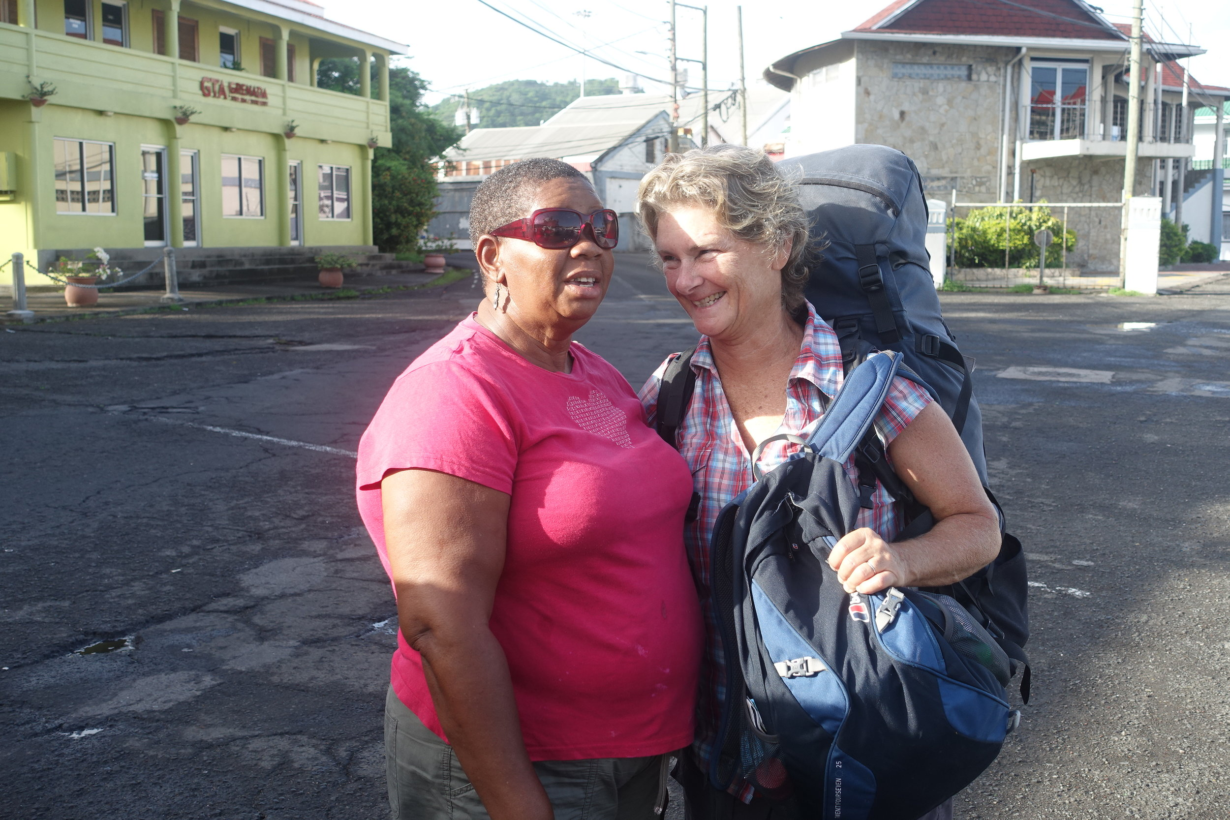 maudlin, our air BnB host in st George's, grenada