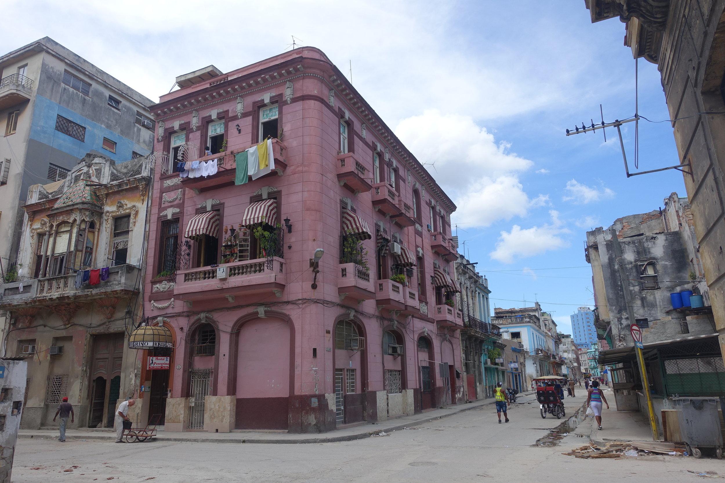 our casa in Havana, hostel peregrino consulado
