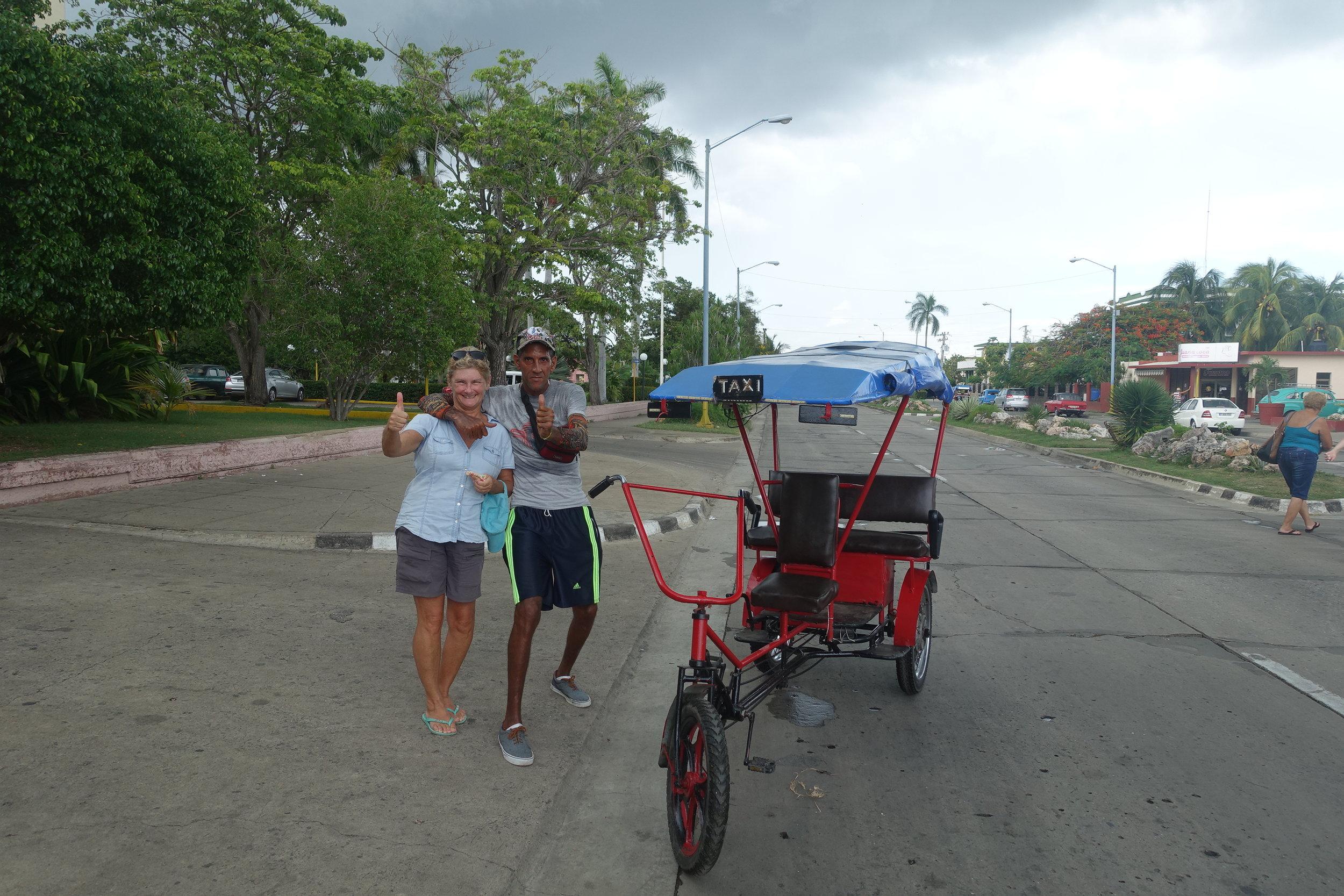 a hard working cyclo driver