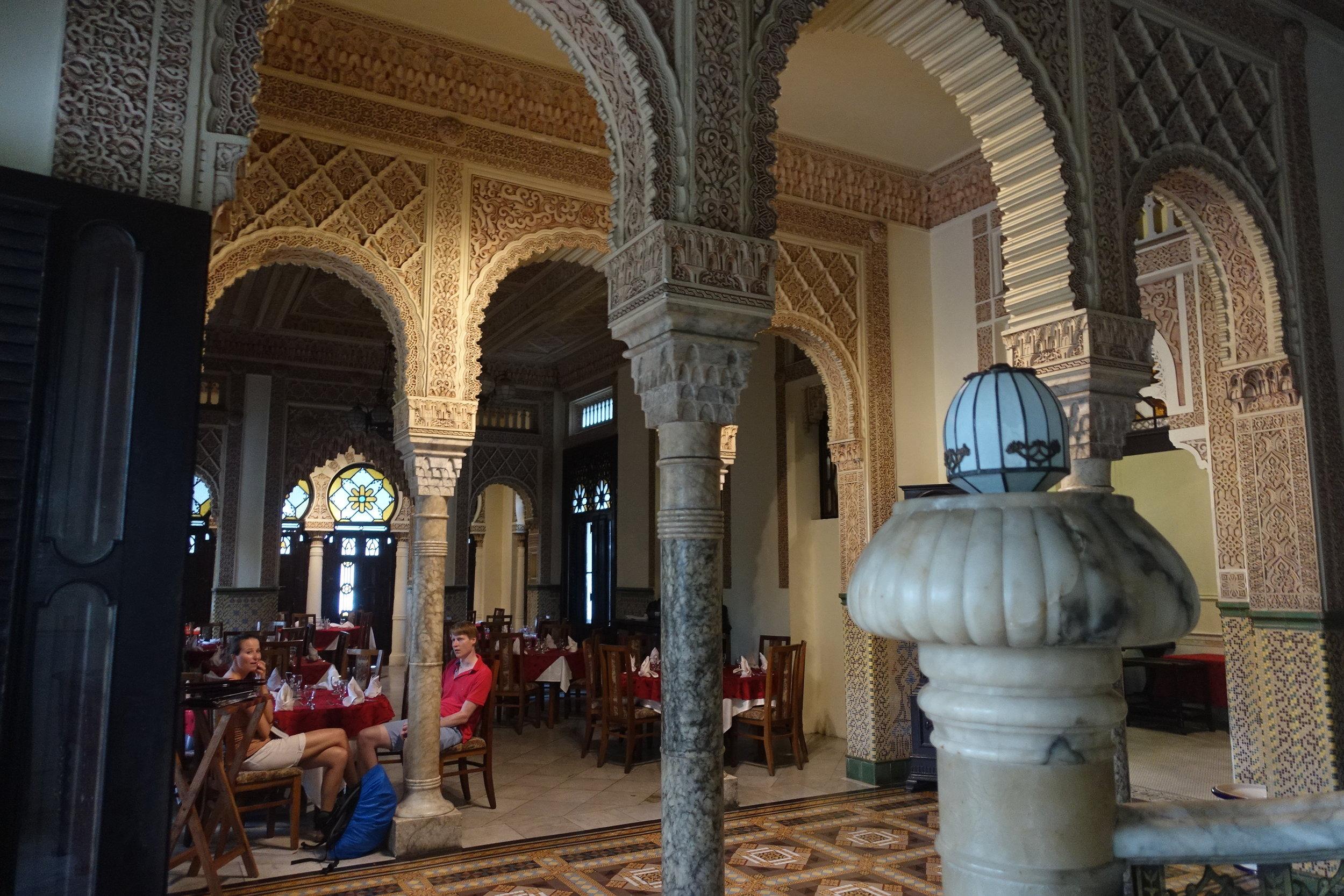 inside the strangely arabesque palacio de valle