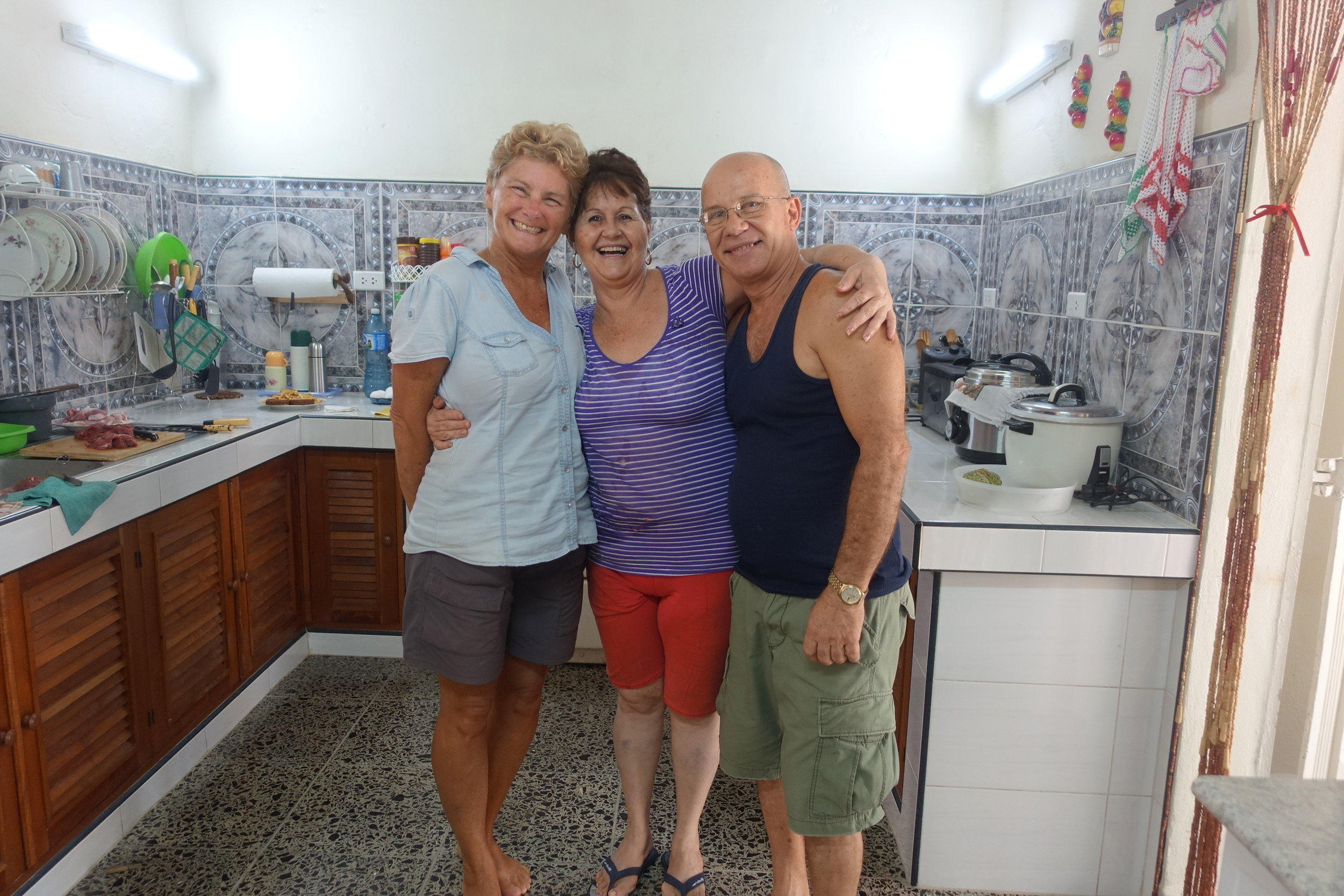 our wonderful hosts in Cienfuegos, dinorah and raul