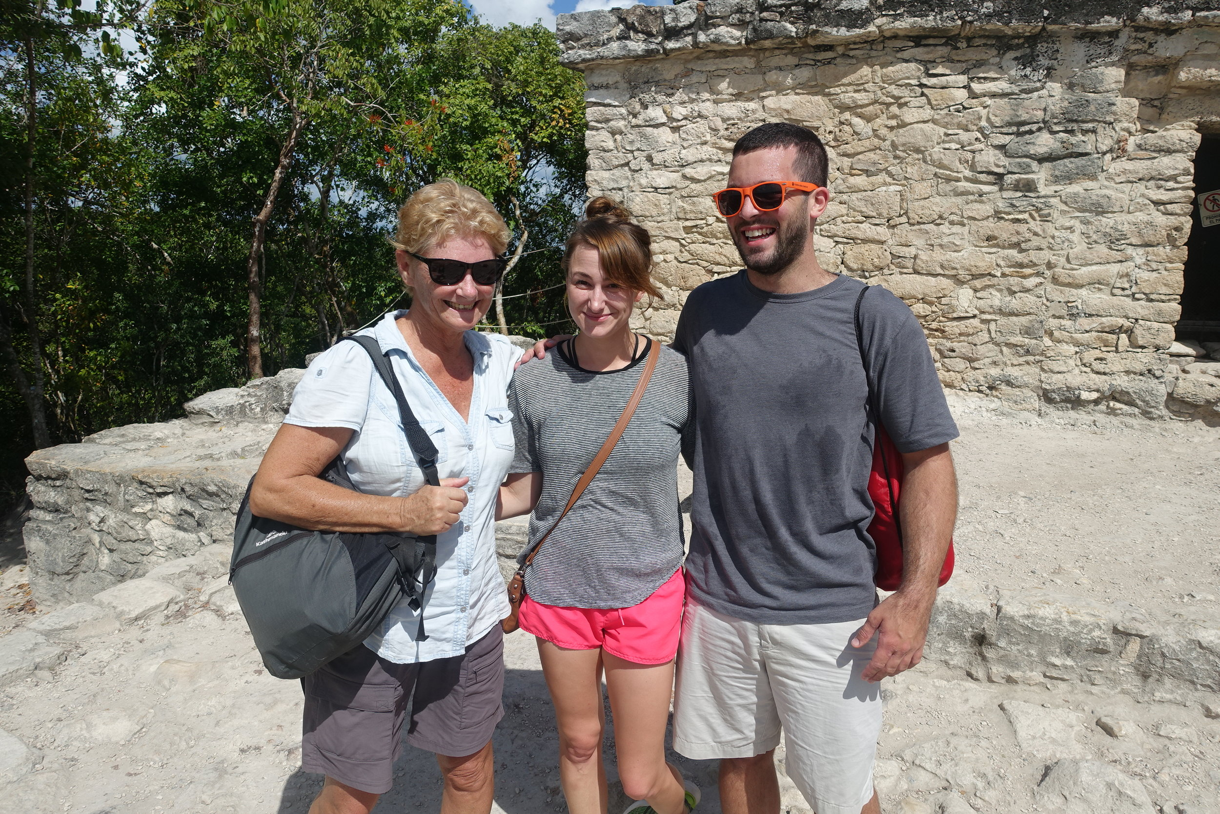 we visited coba with fellow celta course suvivors kayla and alec