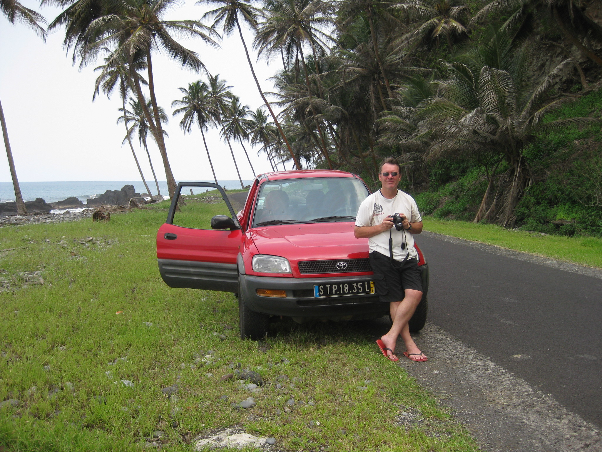 cruising the island in our hire car