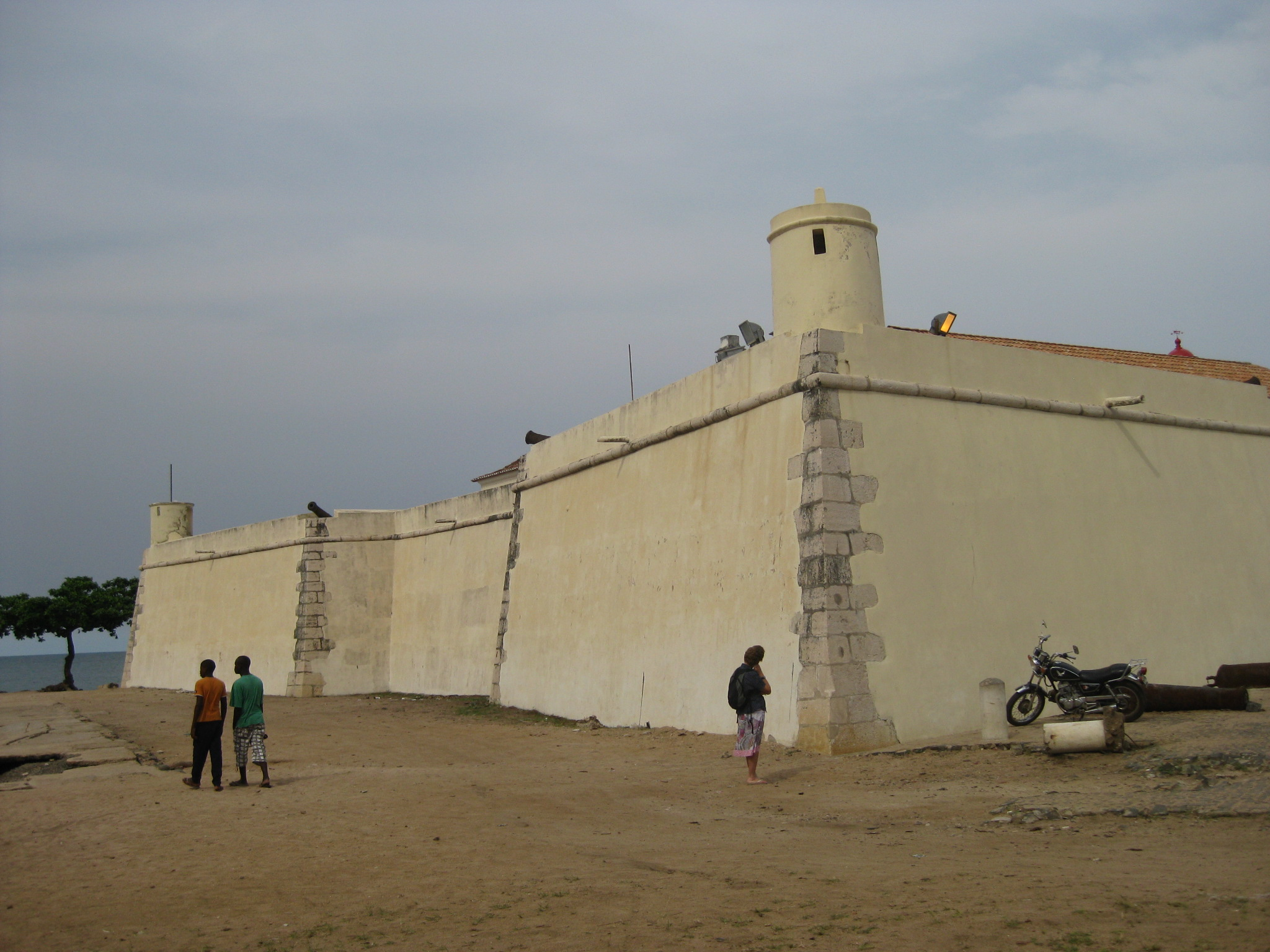 colonial fort, sao tome town