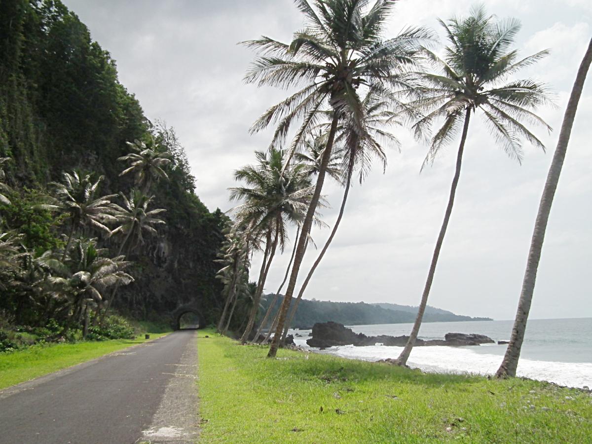 west coast road, sao tome