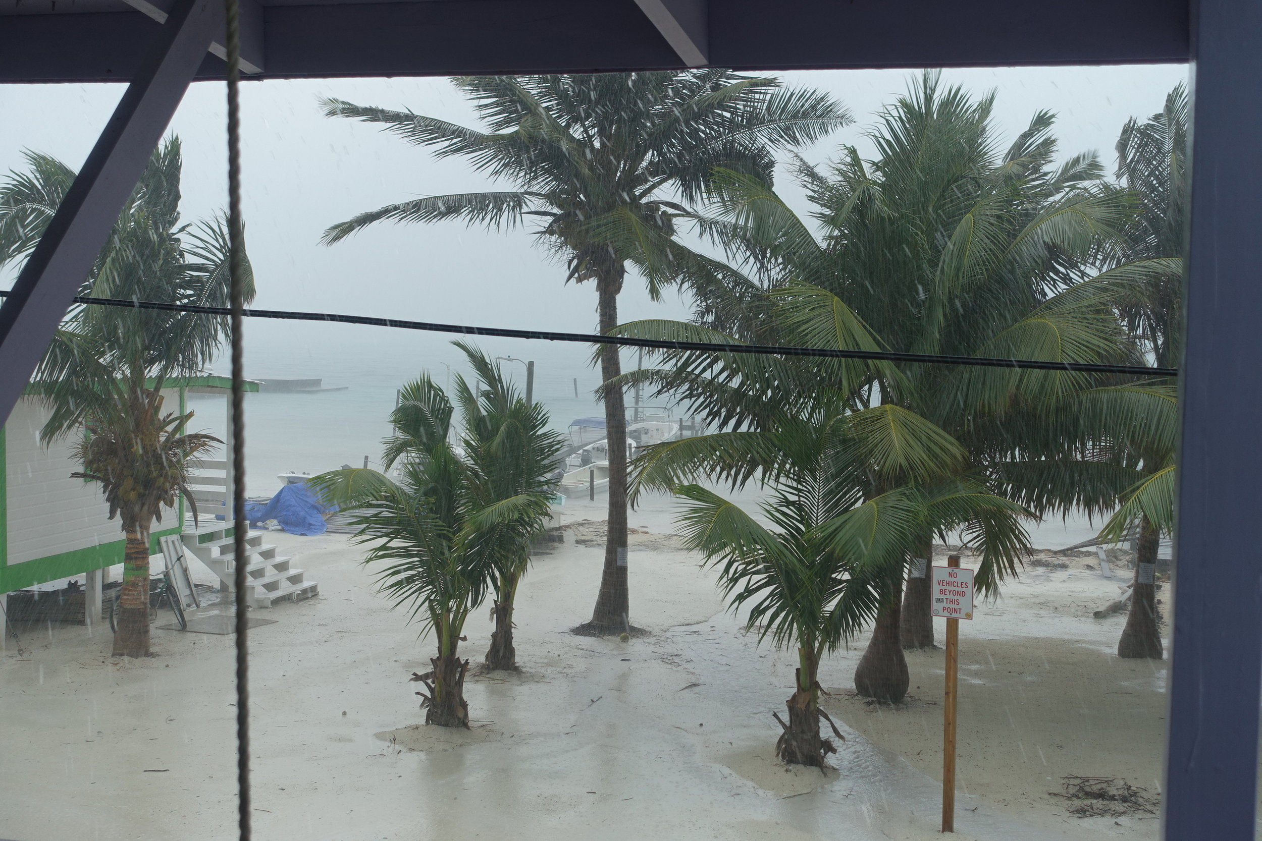 the weather was less than inviting on our snorkelling day