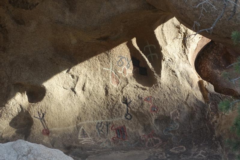 petroglyphs, barker dam walk
