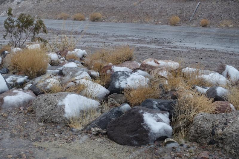snow in death valley