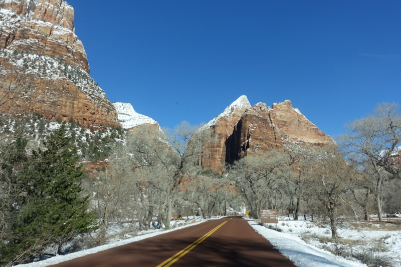 coming into ZION NP