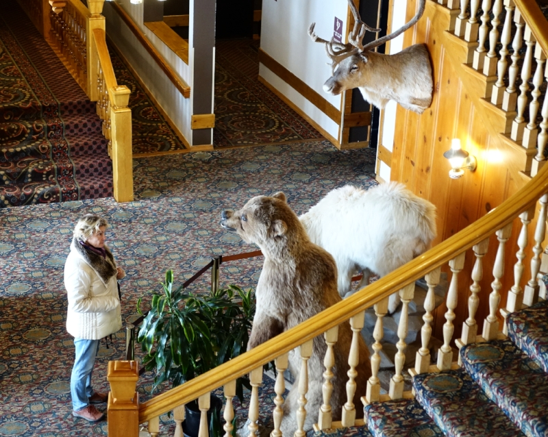 inside the foyer of the stagecoach inn
