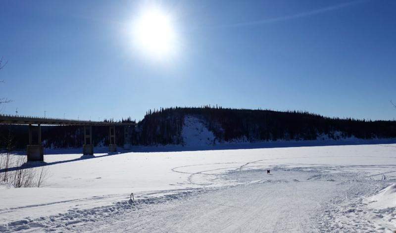the frozen yukon river