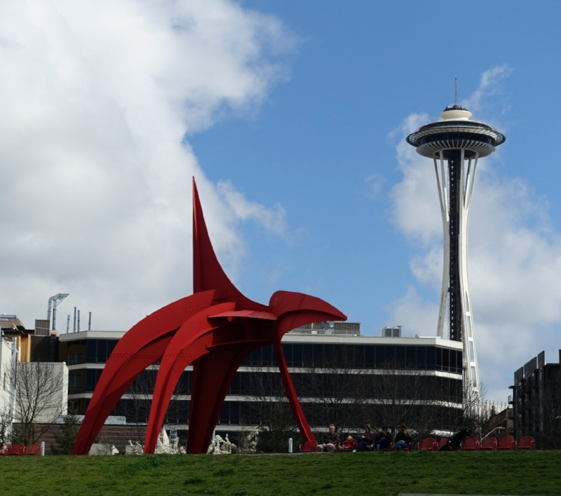 the sculture park is a short walk to the space needle