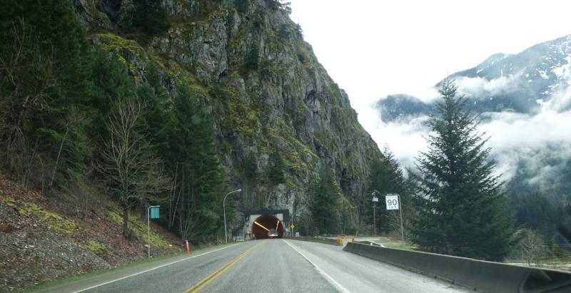 driving through the fraser canyon