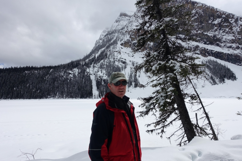 tackling the trail along the lakeside