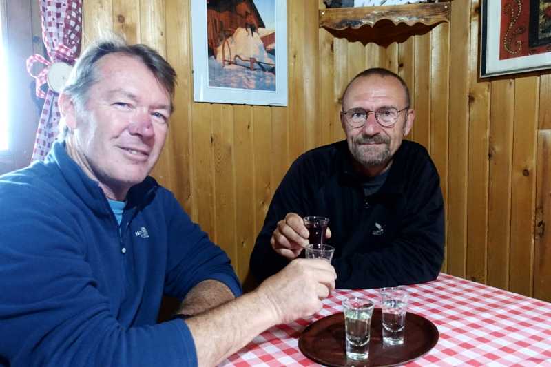 schnapps time on the mountain