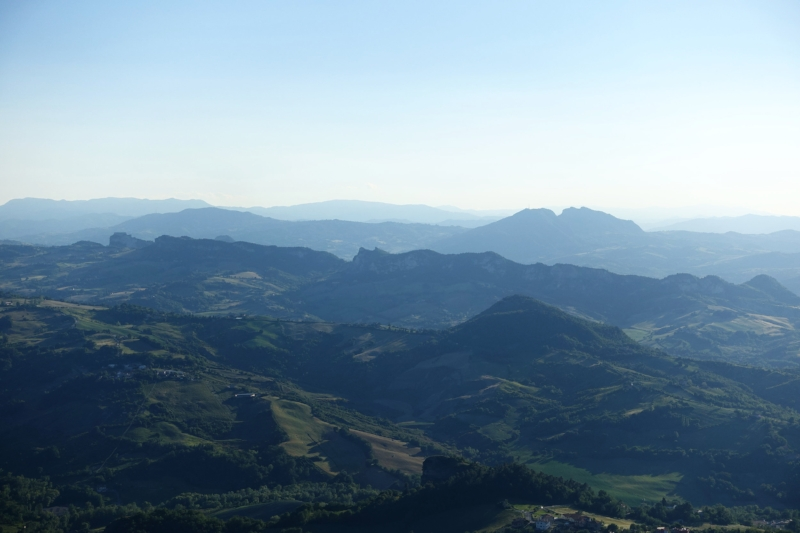gazing out upon the most serene republic of san marino