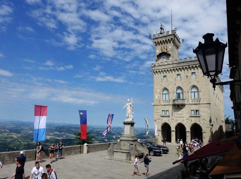 the public palace - san marino's parliament