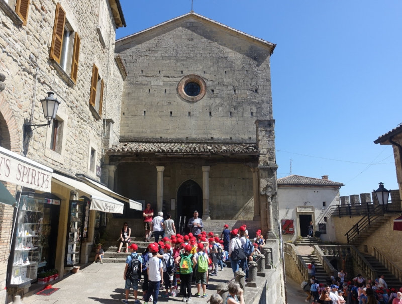 local school trip checking out the church of saint francis