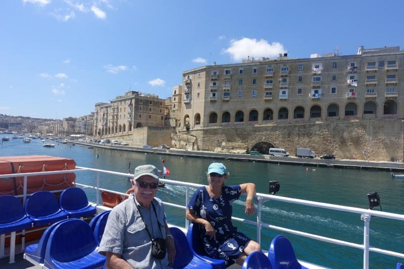 on the ferry from birgu to valletta