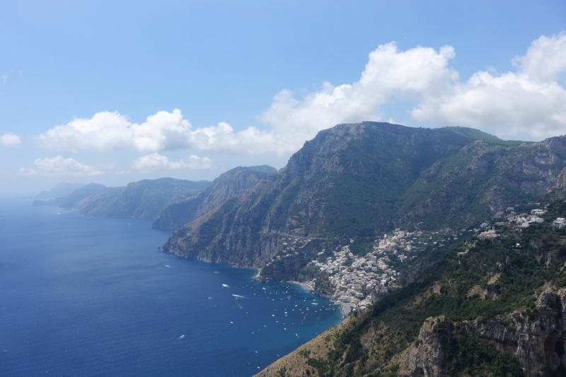 amalfi coast from the path of the gods