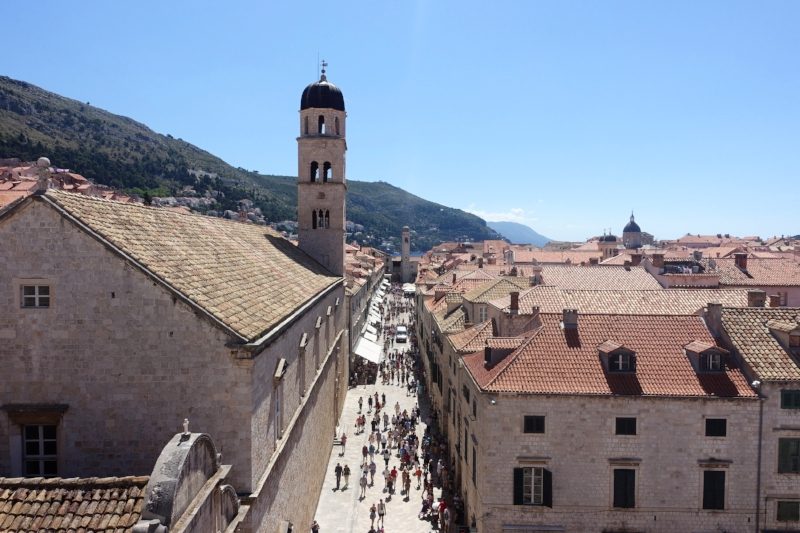 Stradun, the main street of dubrovnik