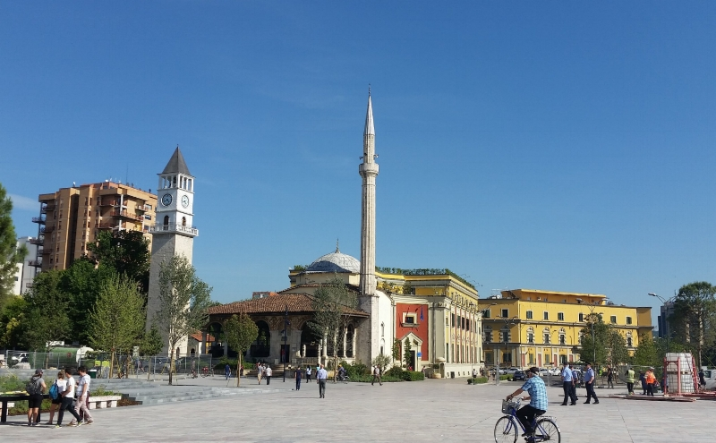 the main square, tirana