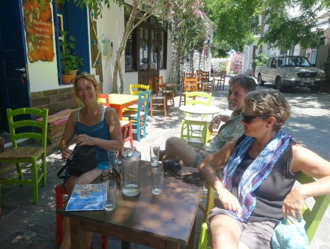 enjoying a bit of shade and a break at akamatra