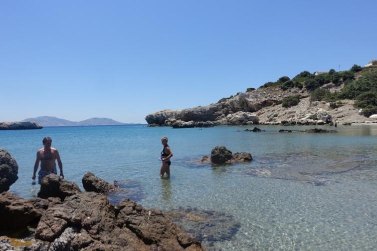 the beach at agios giorgis