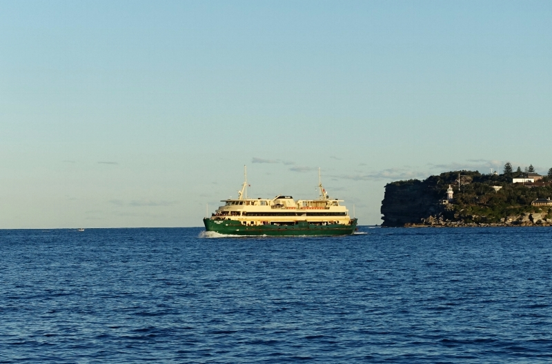 ferry heading for manly
