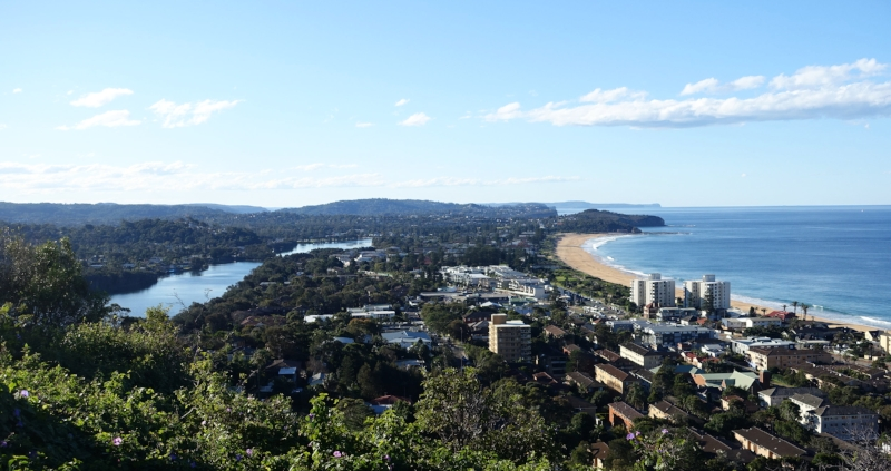 looking north from collaroy plateau