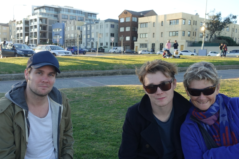 and we got to spend time with our boys, alex and zac, who both live in sydney