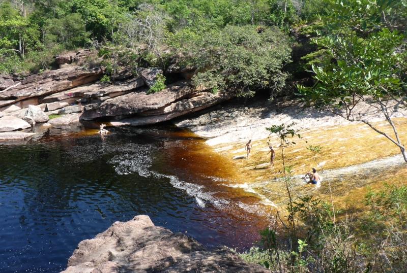 Ribeirão do Meio waterslide and swimming hole
