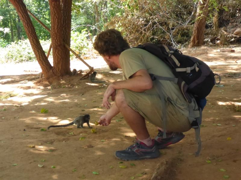 Pieter and a marmoset