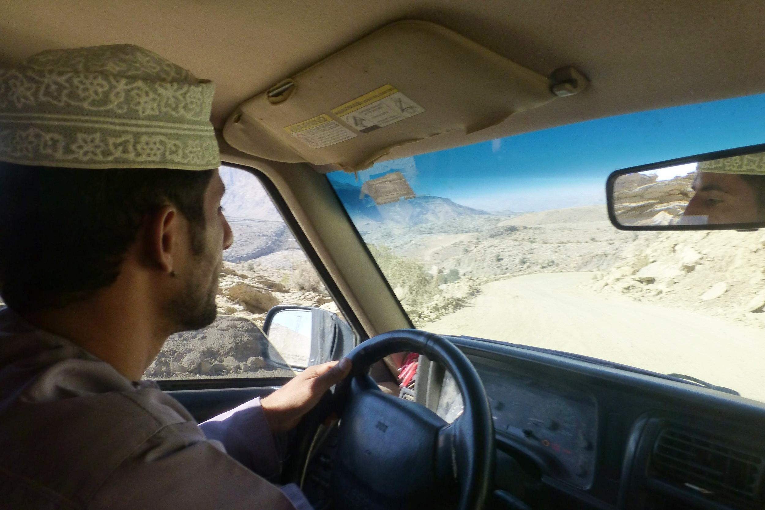 our driver, mahmood