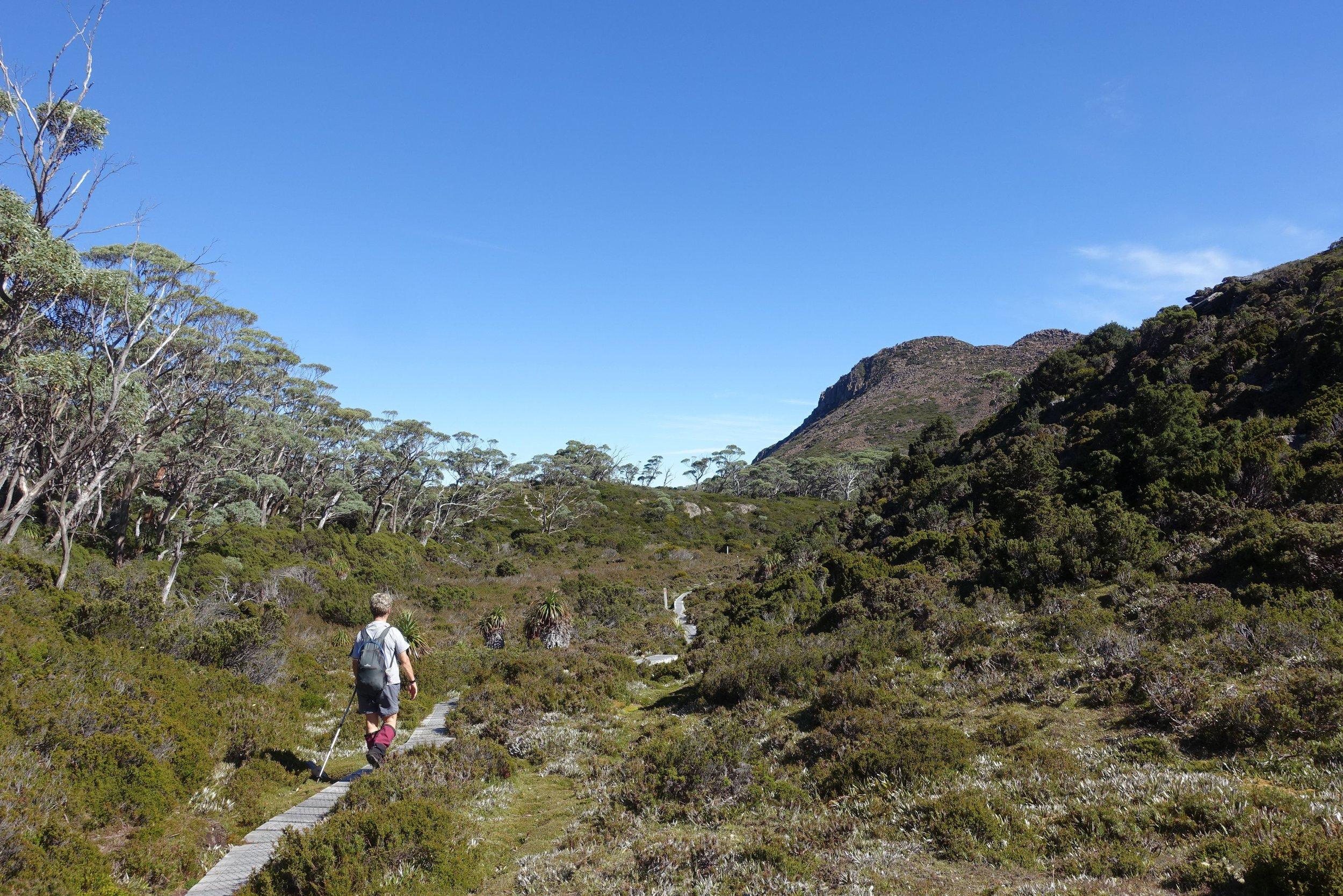 ascending towards mt hugel