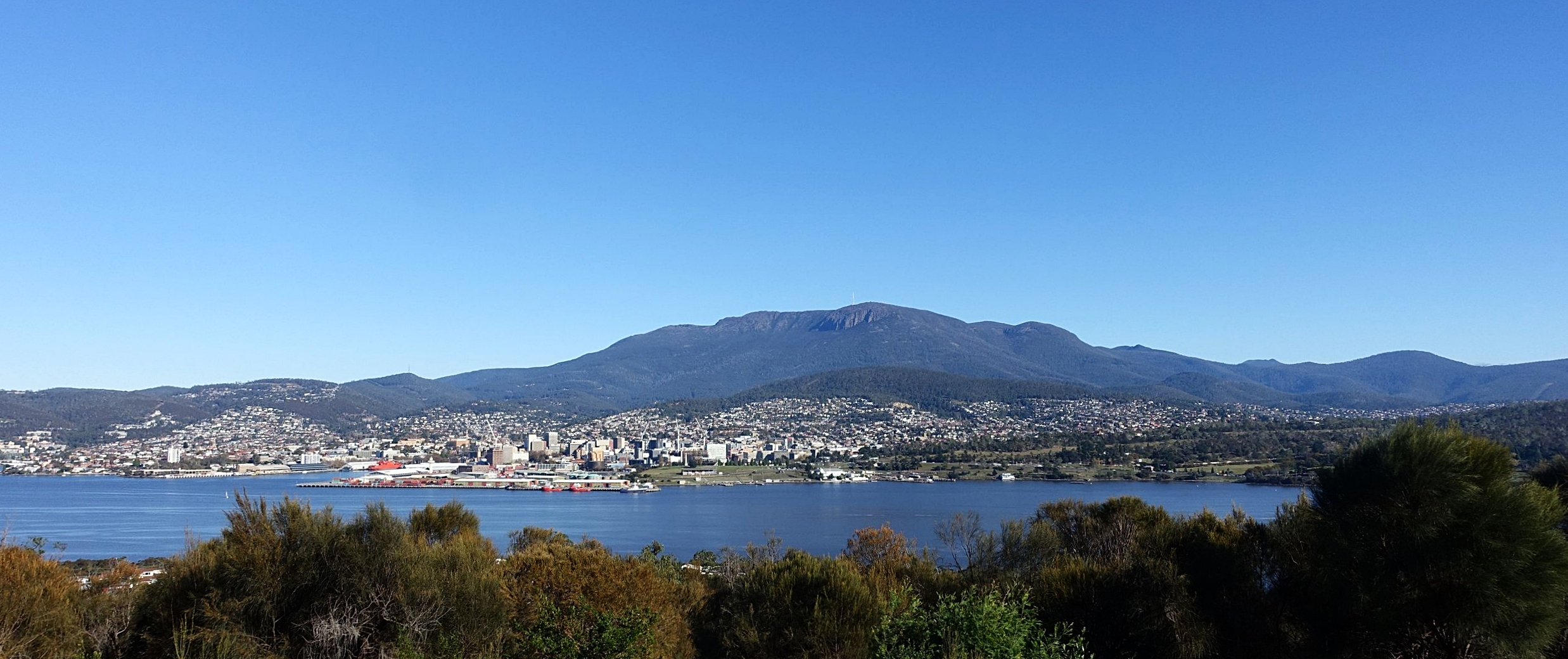 view from rosny point lookout