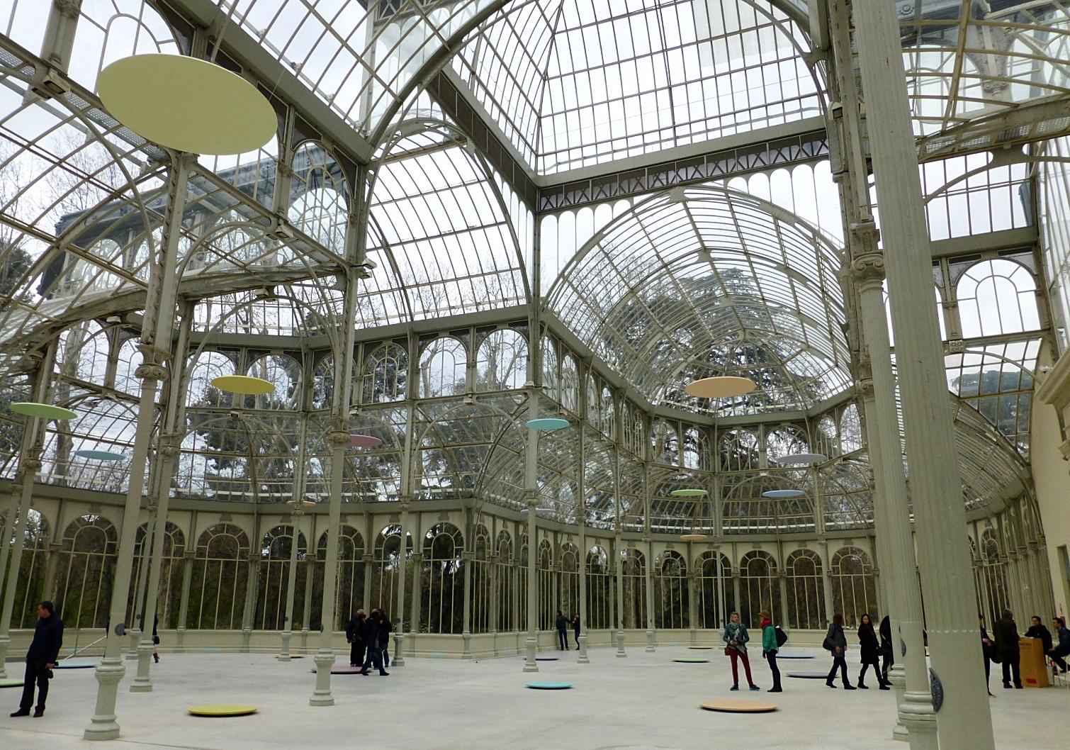 palacio de cristal - parque del buen retiro, madrid