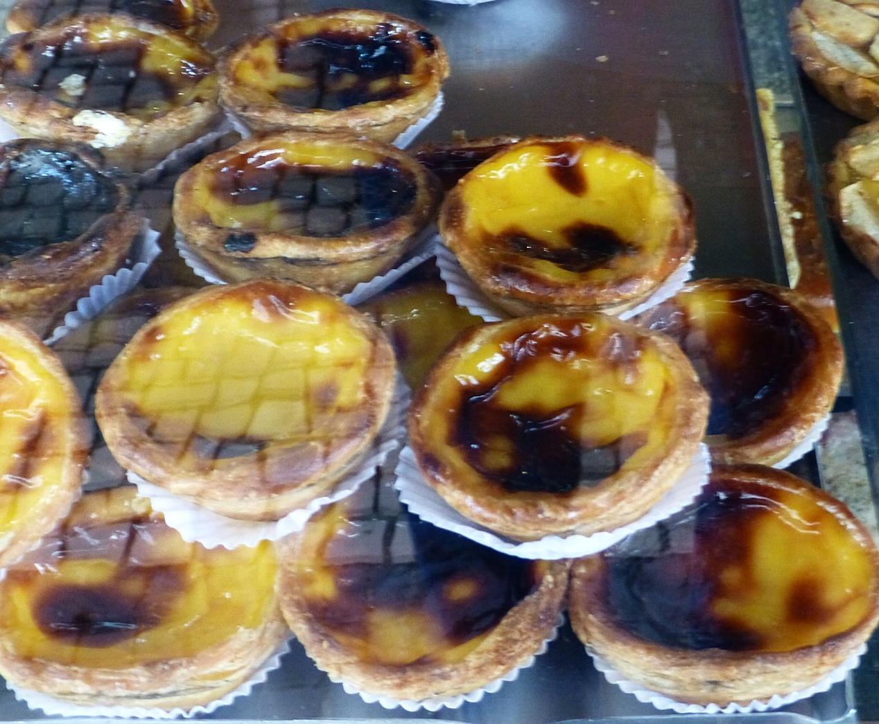 Portuguese custard tarts - yum!