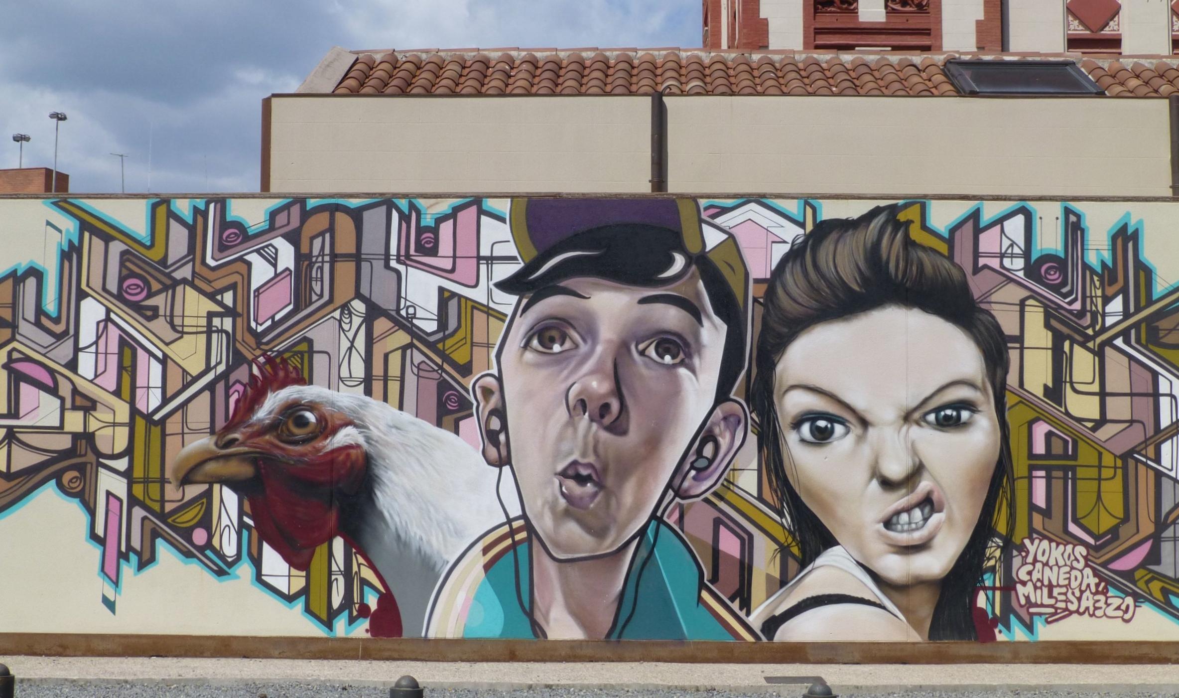 mural, vic, catalonia