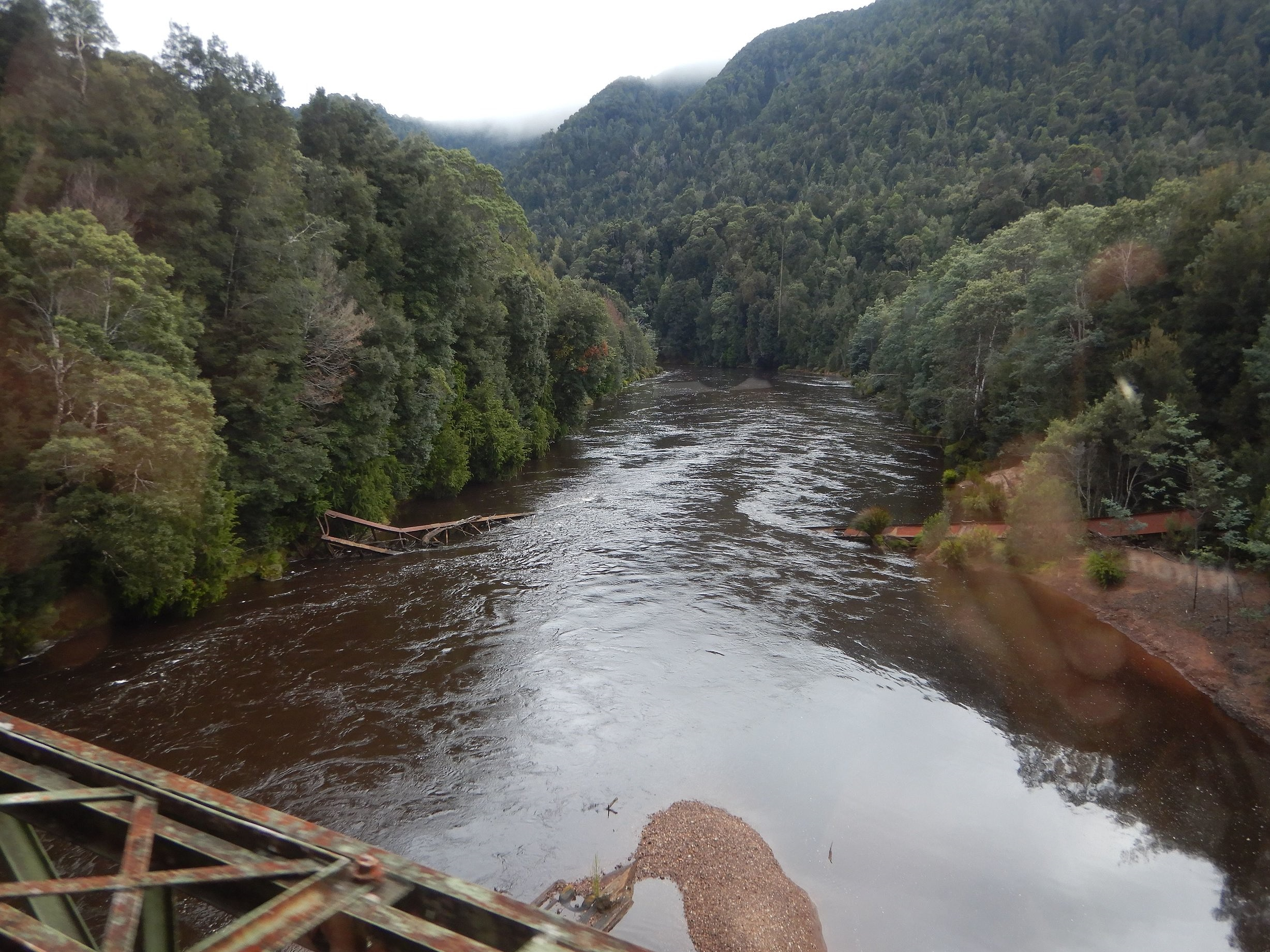 crossing a bridge over the king river