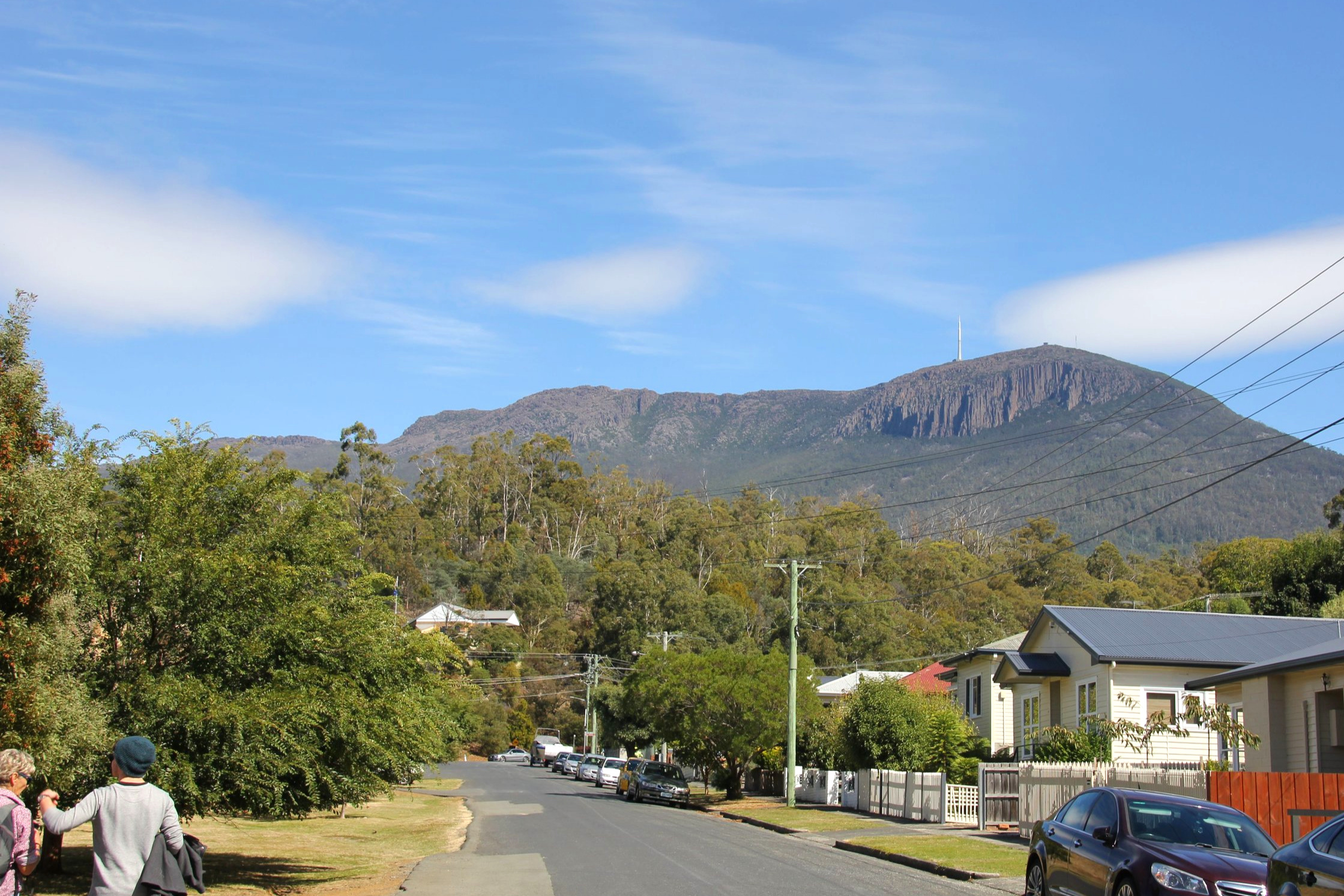 more views of kunanyi/mt wellington from behind the female factory
