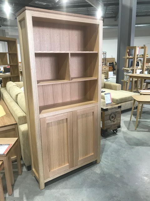Oliver display bookcase any size and range of timbers