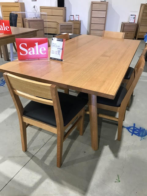 Jasper dining table with hugo chairs Tasmanian Oak