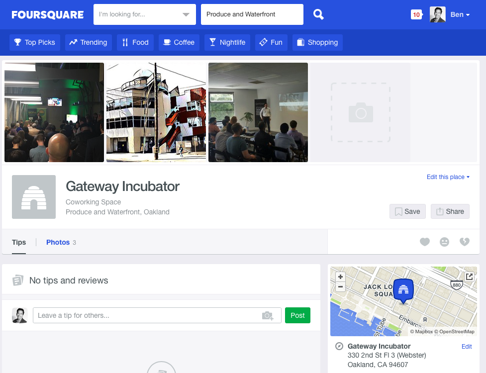 foursquare-gateway-page