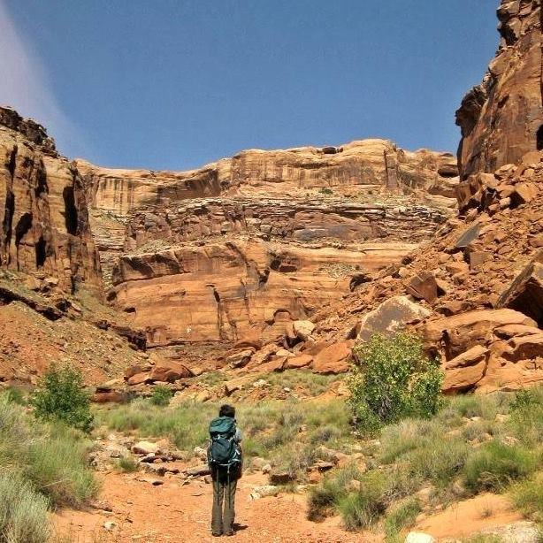 me in a canyon in Utah before a vision fast, another type of rite of passage journey