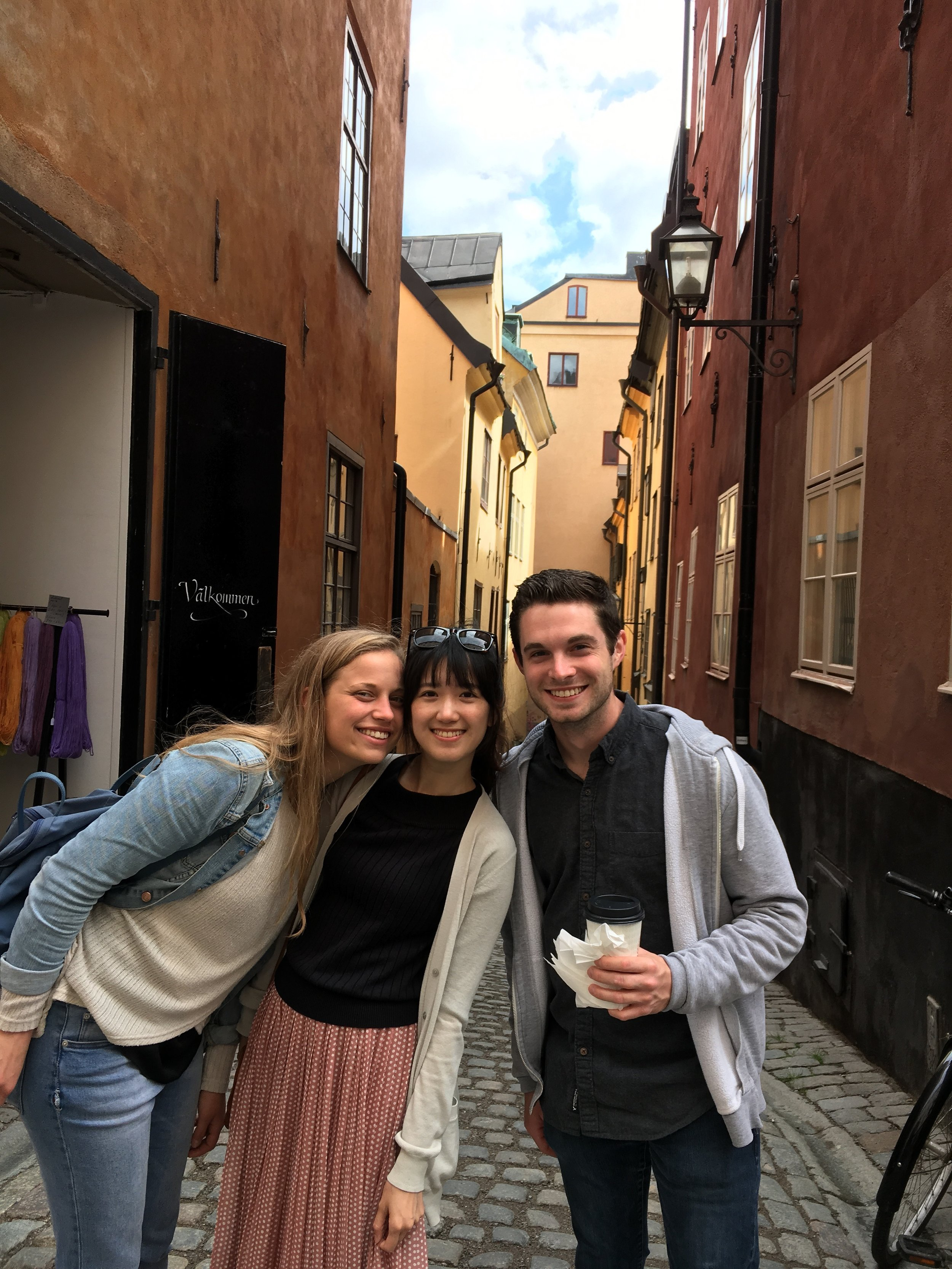 With Vanessa and Hsin in Stockholm!