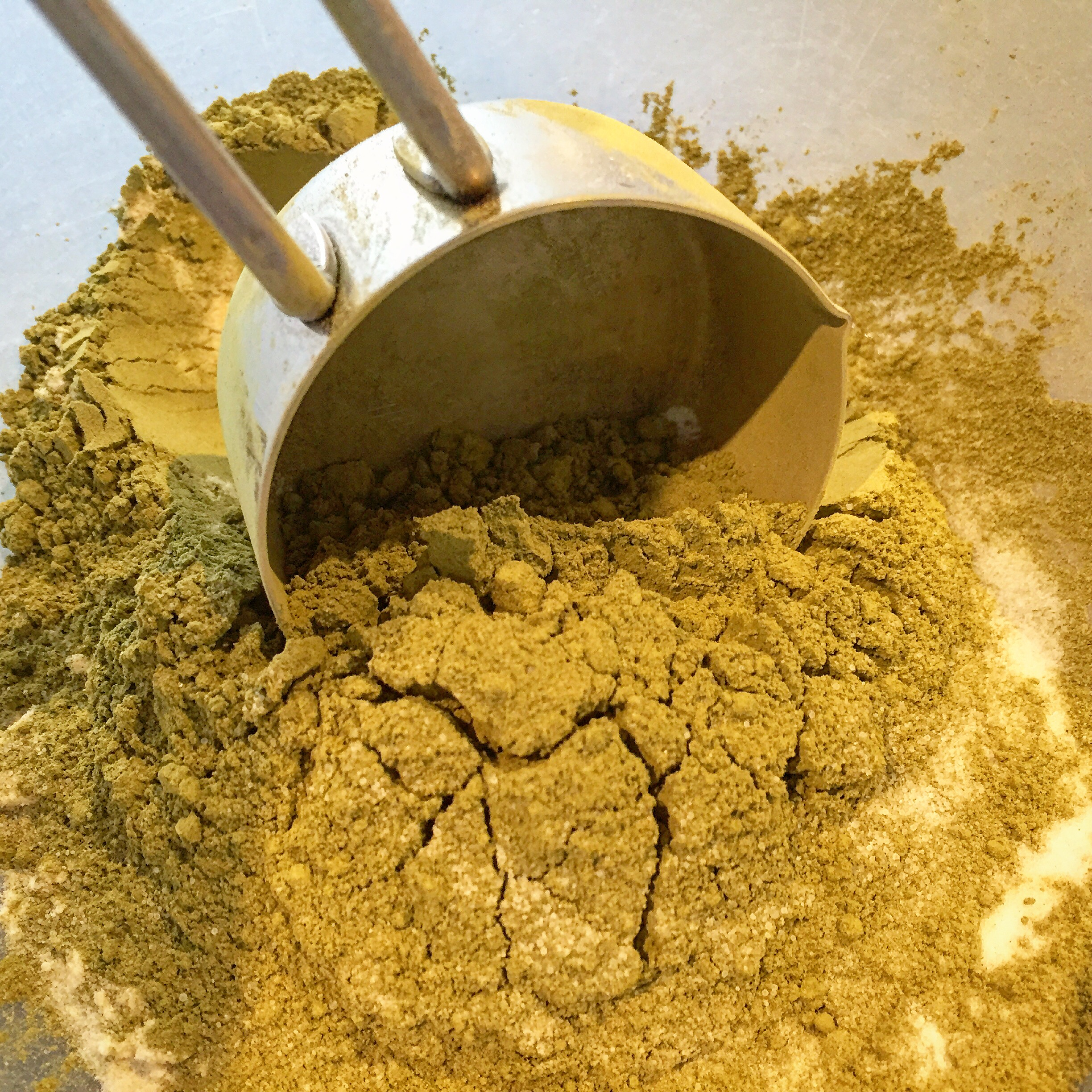 Measure 1/4 cup of Matcha Powder