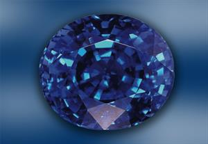 Blue coloured gemstones