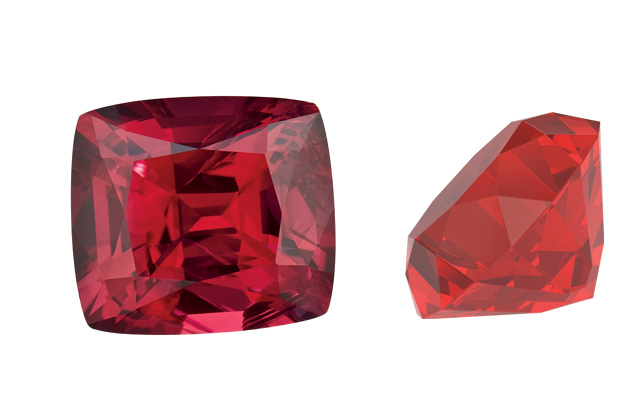 red coloured gemstones